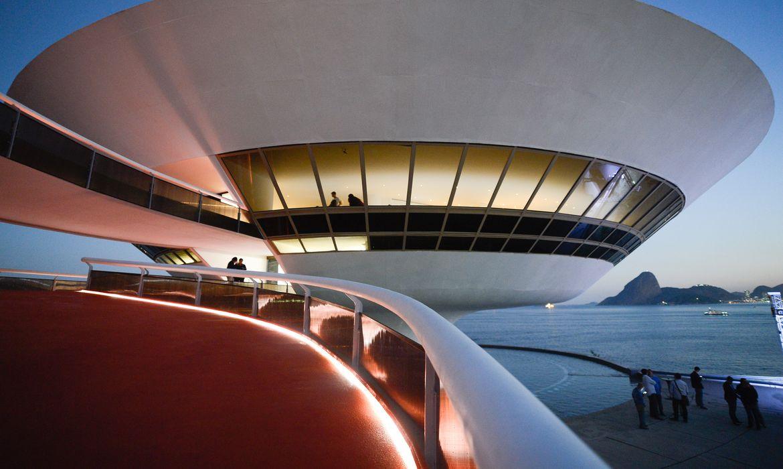 Niterói (RJ) - O Museu de Arte Contemporânea foi reaberto  após um ano de reformas. O prédio foi projetado pelo arquiteto Oscar Niemeyer (Fernando Frazão/Agência Brasil)