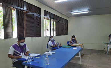 Escola Júlio Goncalves da Costa na comunidade de Santa Luzia do Pacui, eleição municipal de Macapá