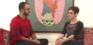Raphael Montes conversa com a jornalista Pilar Del Río