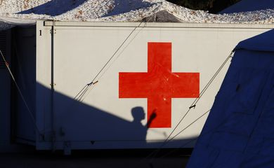 The military mobile hospital that will care for patients infected with coronavirus disease (COVID-19) in San Miguel