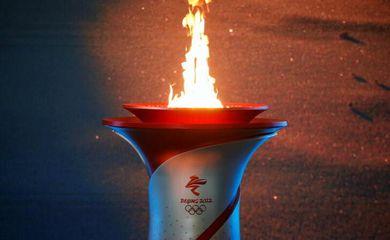 jogos de inverno, cerimônia de chegada da chama olímpica, Pequim