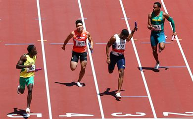 revezamento masculino 4x100 m, atletismo, tóquio 2020, olimpíada