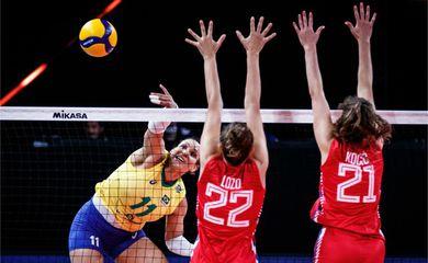 brasil, sérvia, lida das nações, vôlei