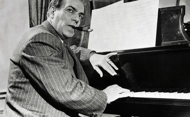 Composer Heitor Villa-Lobos at the Piano