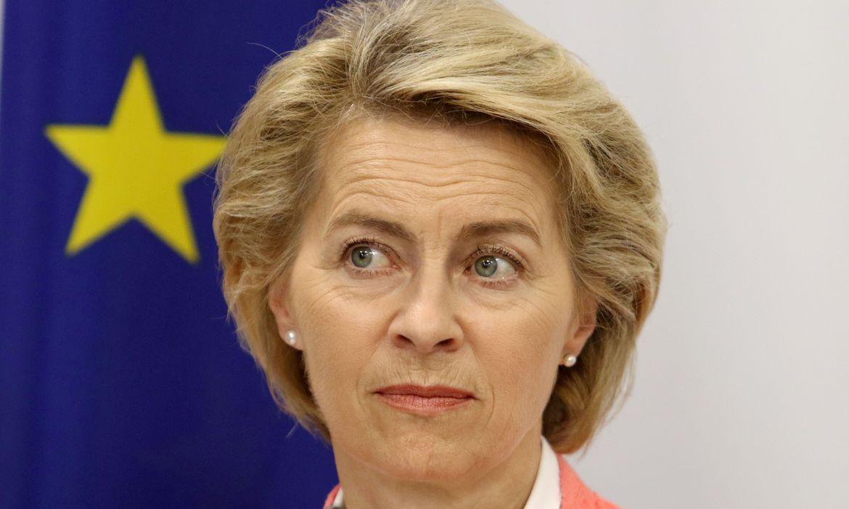 Ursula Leyen, União Européia. REUTERS/Yiannis Kourtoglou/File Photo