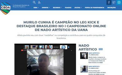 Murilo Cunha levou ouro e prata em competição online.
