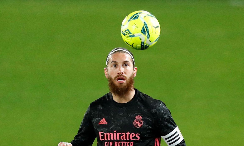 Sergio Ramos durante partida do Real Madrid contra o Elche pelo Campeonato Espanhol
