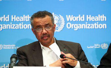 Diretor-geral da OMS, Tedros Adhanom, declara emergência global de saúde por causa do coronavírus, Genebra, Suíça