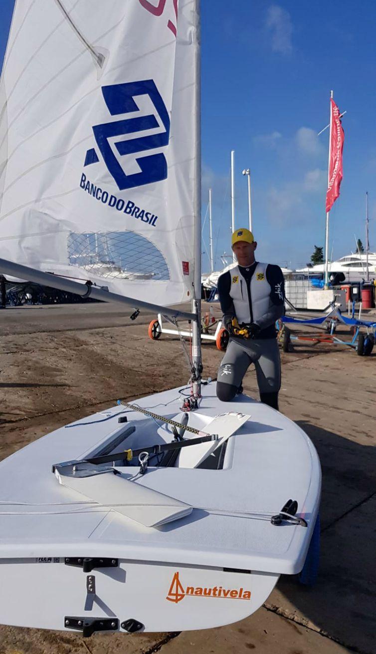Scheidt se prepara para velejar em Vilamoura.