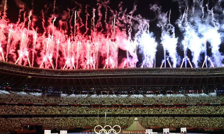 Cerimônia de abertura das Olimpíadas de Tóquio 2020.