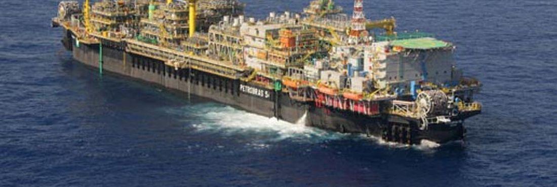 Plataforma P 54 - petróleo do Brasil ANP