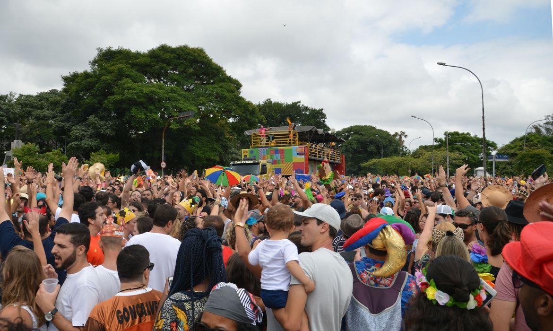 São Paulo - O bloco Frevo Mulher, comandado pela cantora Elba Ramalho no Ibirapuera, anima o pré-carnaval paulistano (Rovena Rosa/Agência Brasil)