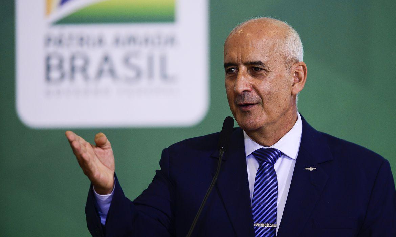 O ministro da Secretaria de Governo, Luiz Eduardo Ramos, durante o lançamento da Agenda Prefeito + Brasil, no Palácio do Planalto.