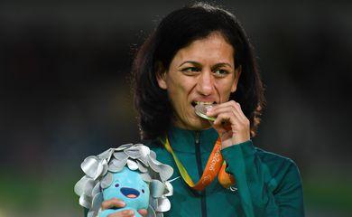 Rio de Janeiro - A judoca brasileira Lúcia Araújo Teixeira ganhou a prata na disputa com a ucraniana Inna Cherniak, que ficou com o ouro na categoria até 57 quilos, na Paralimpíada (Tânia Rêgo/Agência Brasil)