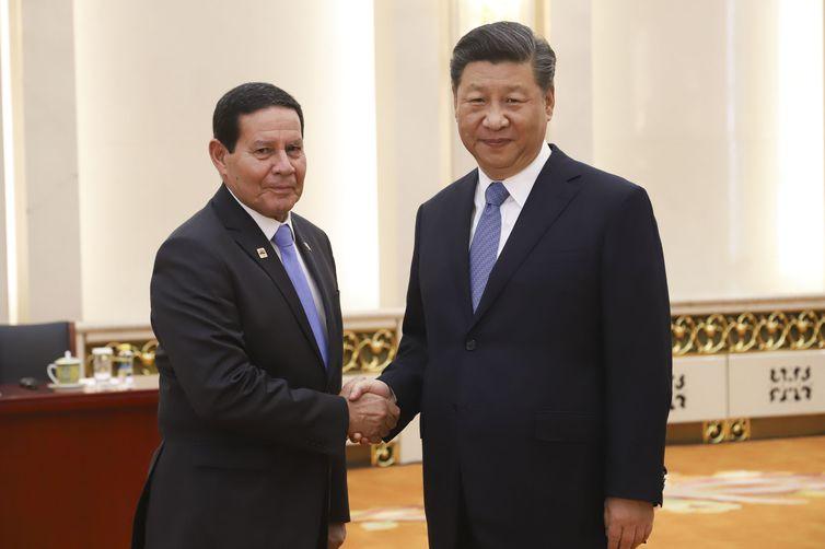 Vice-Presidente da República, Hamilton Mourão, durante Audiência com o Presidente da República popular da China, Senhor Xi Jinping.