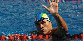Rio de Janeiro - O nadador Clodoaldo Silva bate novo recorde nos 150 metros medley, nos Jogos Parapan-Americanos 2007