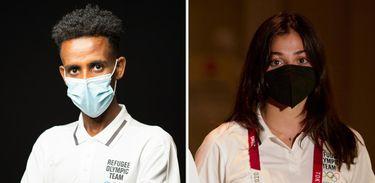 Yusra Mardini e Tachlowini Gabriyesos são os porta-bandeiras da Equipe Olímpica de Refugiados nos Jogos Tóquio 2020