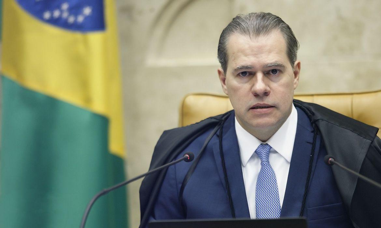 Ministro Dias Toffoli preside sessão plenária por videoconferência. Foto: Rosinei Coutinho/SCO/STF (30/04/2020)
