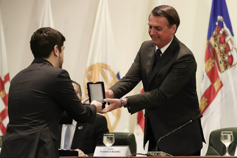 Bolsonaro participa das celebrações do Dia do Diplomata, no Itamaraty