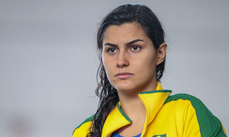 Nadadora paralimpica Mariana Gesteira, da seleção brasileira