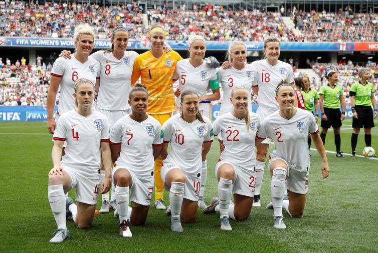 Seleção da Inglaterra na Copa do Mundo de Futebol Feminino - França 2019.