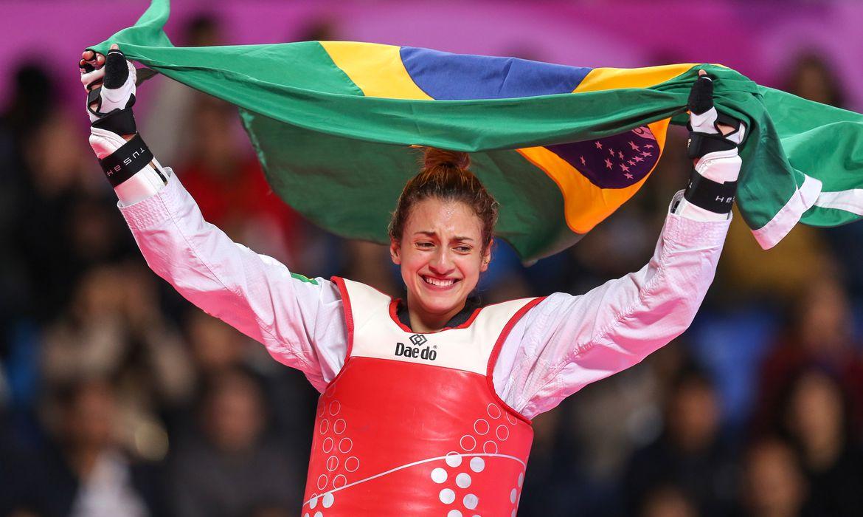 Milena Titoneli (Brasil), medalha de ouro na categoria 67kg do taekwondo nos Jogos Pan-Americanos Lima 2019.