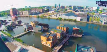 Bairro flutuante de Amsterdã