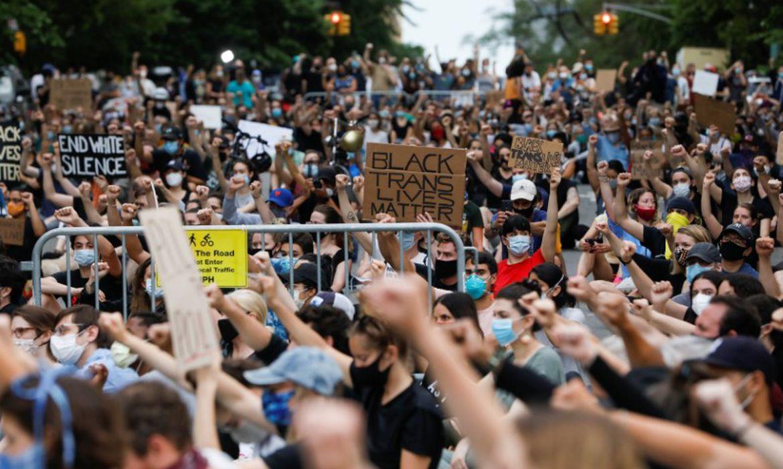 .Protesto contra morte de George Floyd nos Estados Unidos