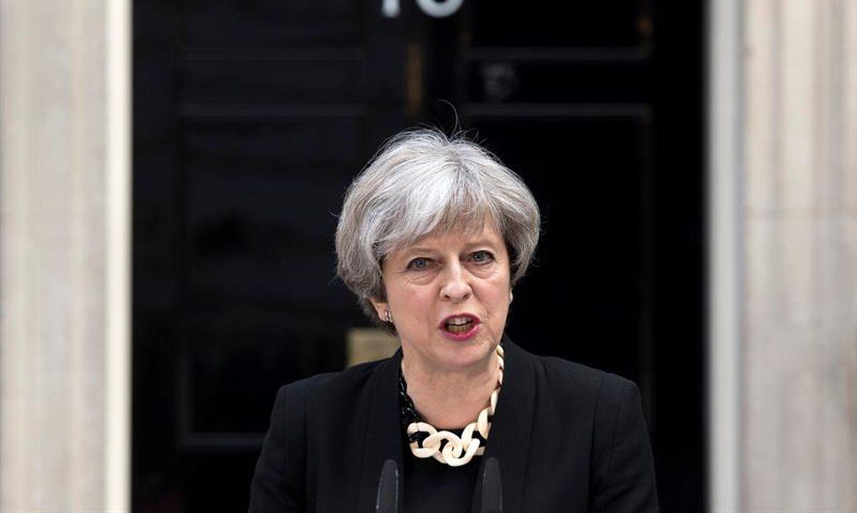 Primeira-ministra Theresa May fala à imprensa sobre atentado ontem em Londres