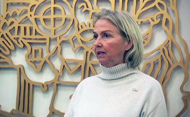 Berit Kjoell, presidente do comitê olímpico norueguês