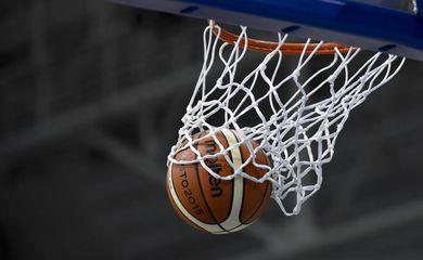 basquete, bola, cesta
