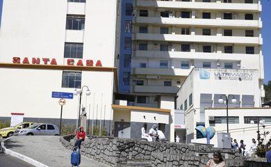 Fuiz de Fora - Santa Casa de Misericórdia, hospital onde o deputado Jair Bolsonaro foi atendido após ser esfaqueado Foto: Tomaz Silva/Agência Brasil