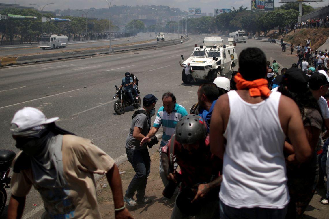 AVenezuela, manifestações, golpe