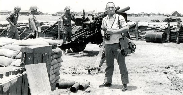 Gervásio Baptista registrou momentos da Guerra do Vietnã