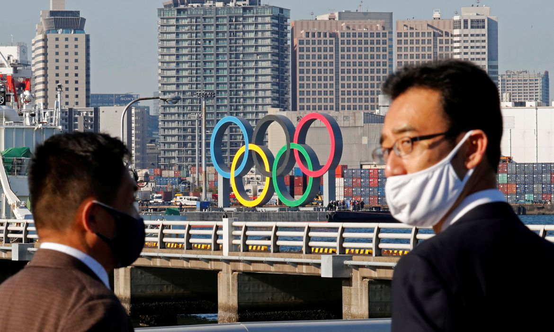 Anéis Olímpicos em Tóquio