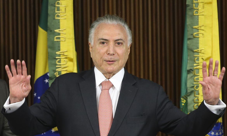 O presidente Michel Temer coordena a última reunião ministerial de seu governo, no Palácio do Planalto.