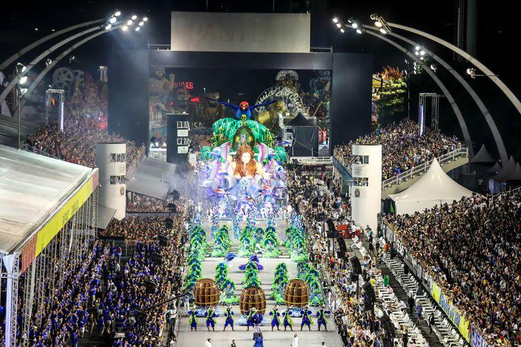 São Paulo - A Escola de Samba Unidos de Vila Maria, é a São Paulo - A Escola de Samba Unidos de Vila Maria, é a segunda a desfilar no carnaval de São Paulo no Sambódromo do Anhembi (Divulgação/Paulo Pinto/LigaSP)