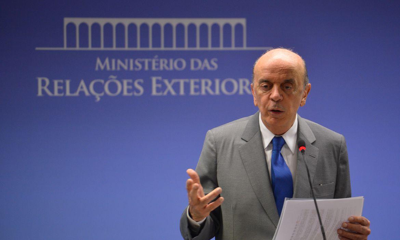 Brasília - Ministro das Relações Exteriores, José Serra, fala sobre a vitória de Donald Trump nos Estados Unidos (Marcello Casal Jr/Agência Brasil)