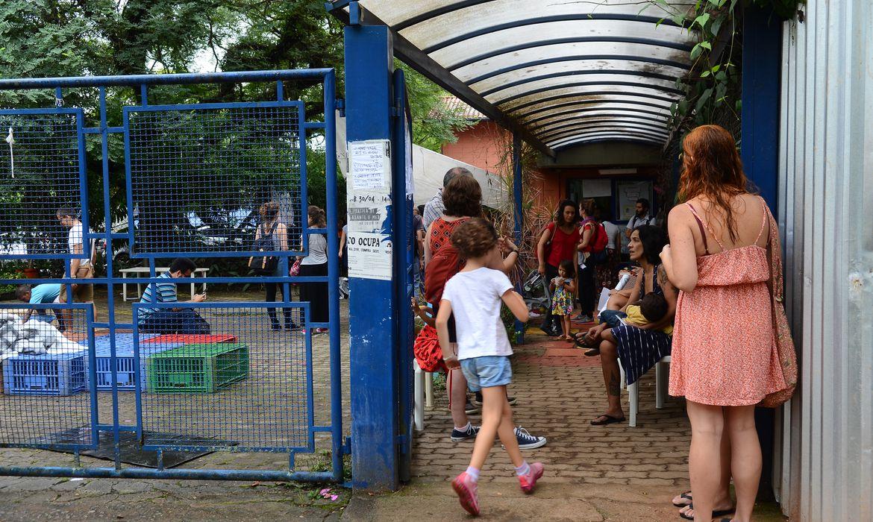 São Paulo - Alunos, funcionários e pais fazem ato contra o fechamento da Creche Oeste da Universidade de São Paulo (USP) (Rovena Rosa/Agência Brasil)