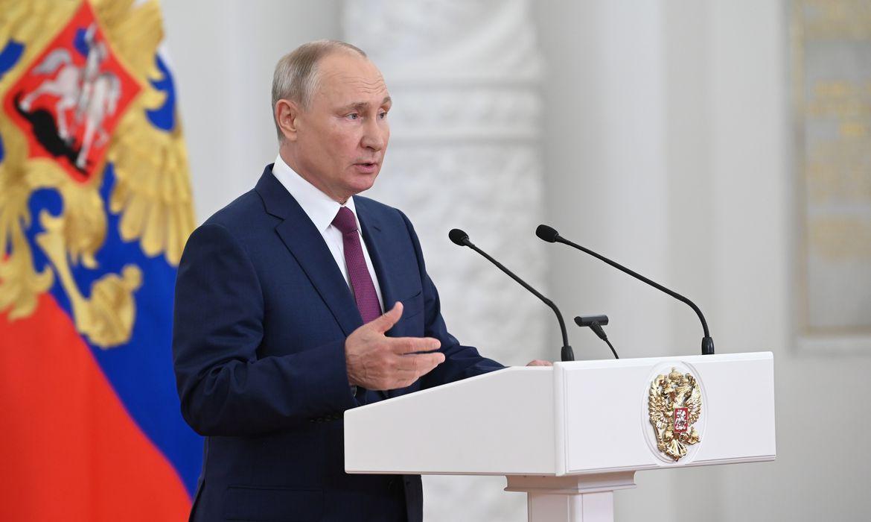 Presidente da Rússia, Vladimir Putin, durante encontro com atletas russos que irão à Olimpíada de Tóquio no Kremlin - Tóquio 2020
