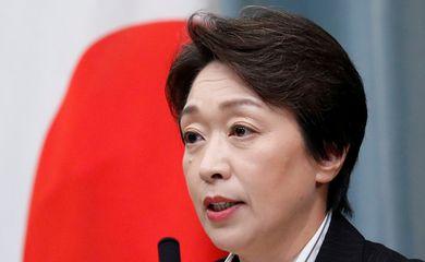 Seiko Hashimoto em Tóquio - OLimpíada - ministra
