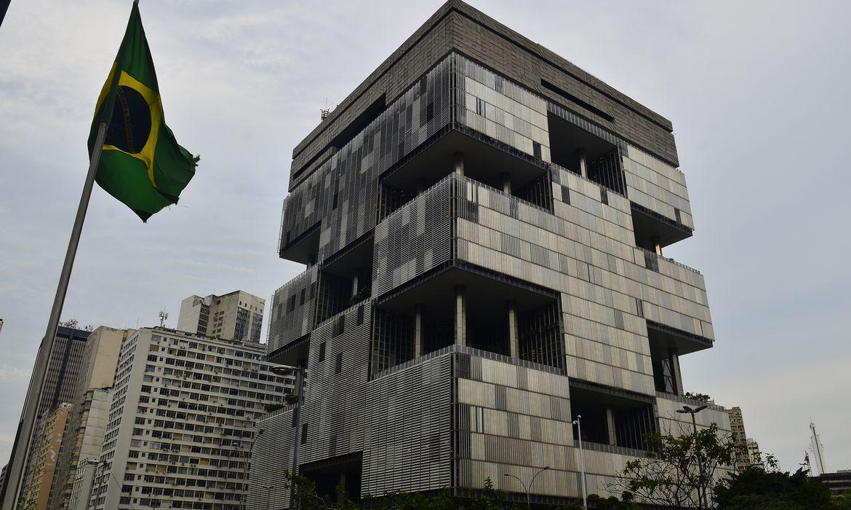 Edifício sede da Petrobras na Avenida Chile, centro do Rio de Janeiro