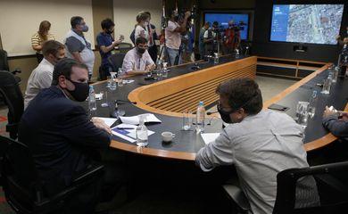 Rio de Janeiro, 05/02/2021, Prefeito do Rio Eduardo Paes e secretario de saude Daniel Soraz, apresentam panorama da covid-19.COR, Cidade Nova, Centro do Rio, FOTO DE RICARDO CASSIANO/PREFEITURA DO RIO