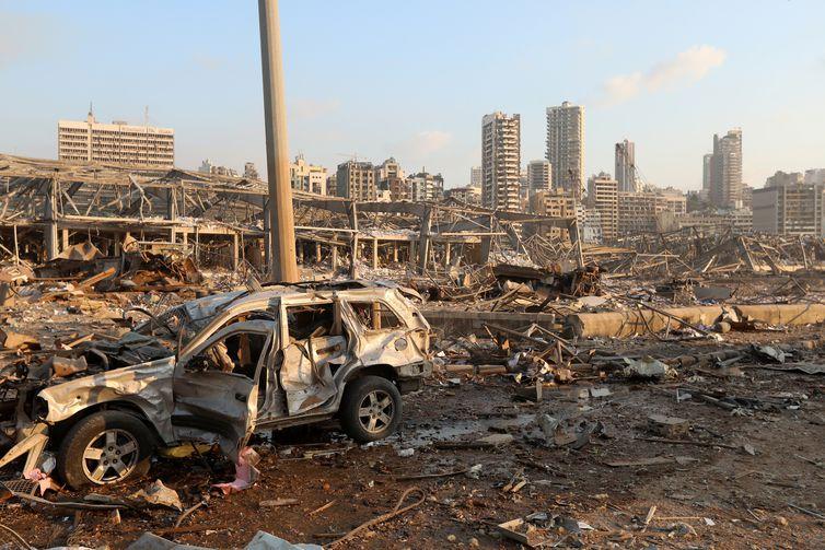Destruição provocada por explosão em Beirute