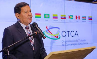 O Vice-Presidente da República, Hamilton Mourão, durante Inauguração do Observatório da Amazônia - ORA.
