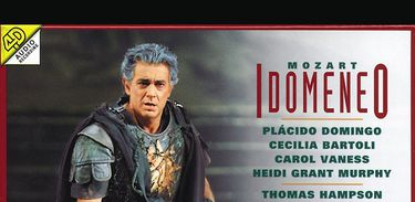 "Capa do CD ""Idomeneo"", de Mozart, com Placido Domingo"