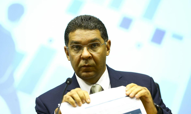 O secretário do Tesouro Nacional, Mansueto Almeida, durante entrevista coletiva para comentar o Resultado Primário do Governo Central de janeiro.