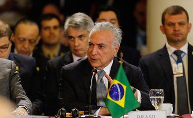 O presidente Michel Temer participa da LIII Cúpula dos Chefes de Estado do Mercosul e Estados Associados, em Montevidéu (Uruguai).