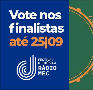 Banner Festival Rádio MEC 2021 - arte para destaque especial - votação finalistas
