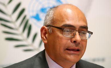 Saúde, Venezuela, Genebra, Carlos Alvorado. 22, 2019. REUTERS/Denis Balibouse